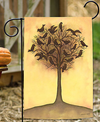 Toland Tree Crows 12.5 x 18 Black Bird Branch Halloween Fall Autumn Garden Flag](Black Tree Branches Halloween)
