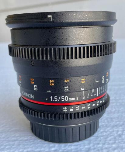 Rokinon Cine DS 50mm T1.5 Full Frame Prime Cine Lens for Canon EF w/ Hood