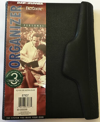 Day Runner Organizer - Black 3 Ring Refillable 5.5x8.5 Page