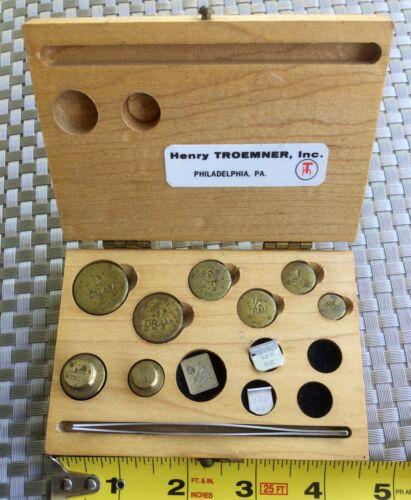 Henry TROEMNER Calibration Weights Collector Set Vintage Troy Oz DRAM SC MG Box