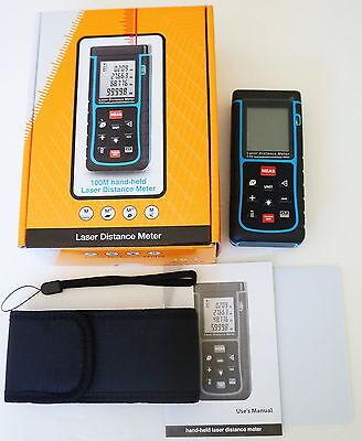 100m 3937in 328ft Digital Laser Distance Meter Range Finder Measure Diastimeter