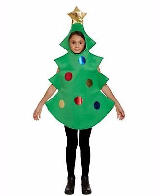 Boy Girl Christmas Tree Fancy Dress Costume Party Nativity Book Day Various Size (Tree Dress Up Costume)