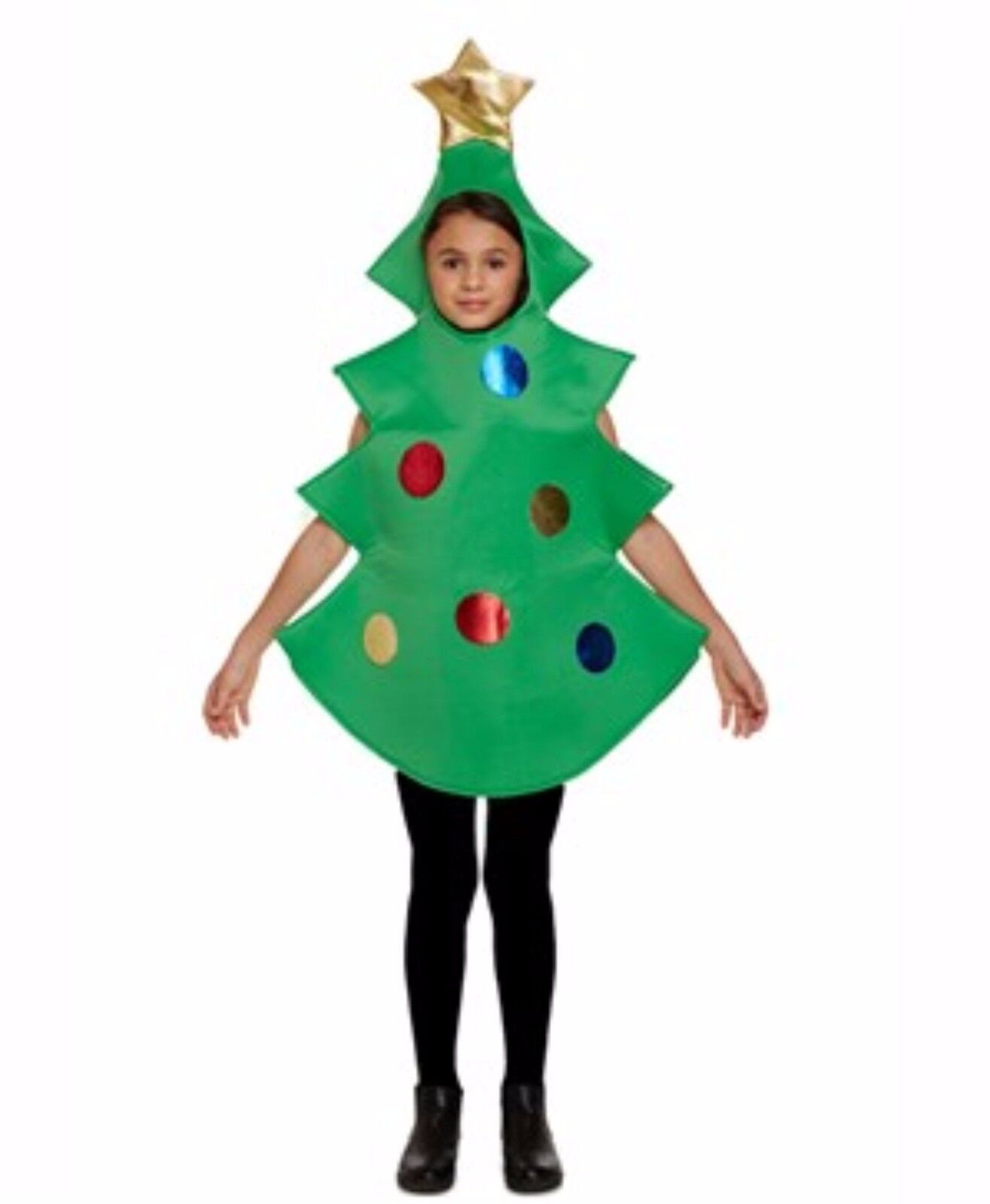 Boy Girl Christmas Tree Fancy Dress Costume Party Nativity B