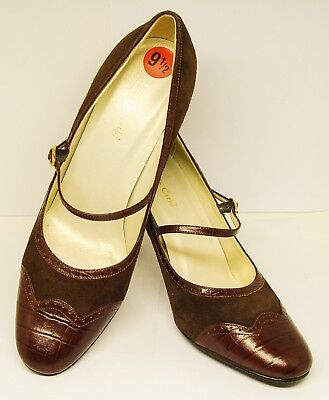 MAX DE CARLO MADE IN ITALY LEATHER/SUEDE MARY JANE 4