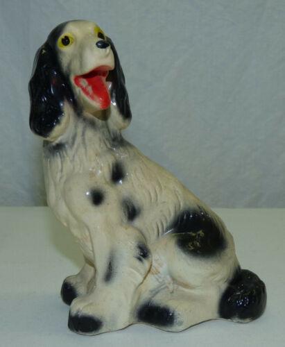 Vintage 1950s 60s Carnival Chalk Chalkware English Spaniel Setter Dog Figurine