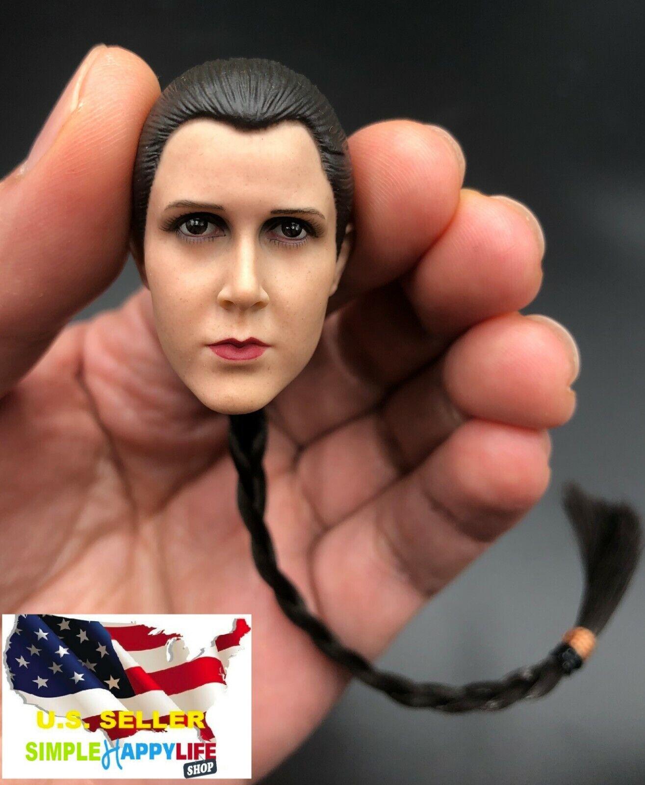 "1:6th Star Wars Leia Organa Solo Head sculpt For 12/"" Female Figure Doll Toys"