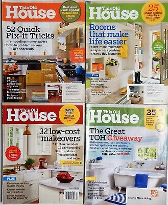 This Old House Magazine Lot 34 Issues 2011 2012 2013 2014 2015