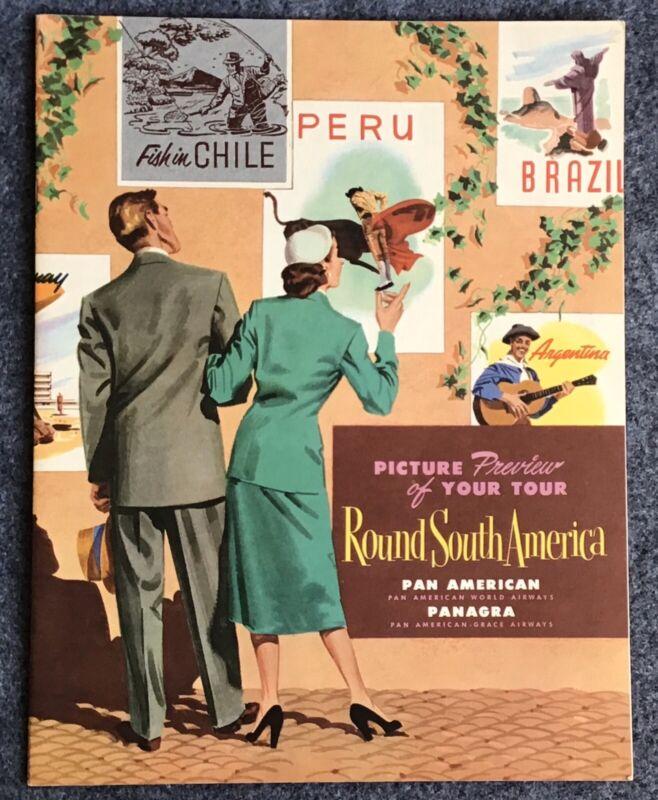 1952 Pan American World Airways Panagra Round South America Booklet