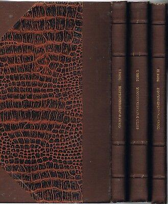 COURS D'ANESTHÉSIOLOGIE Certificat Études Spéciales de MOULONGUET & BAUMANN 1958
