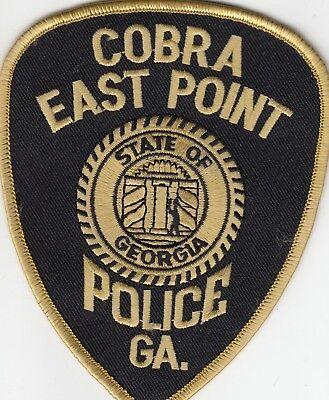 EAST POINT COBRA POLICE PATCH GEORGIA GA