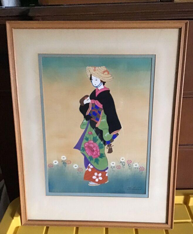 Taikan Geisha Painting