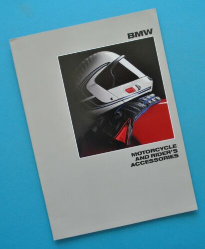 1988 BMW Motorcycle Accessory Catalog Brochure R100RT R100RS R65