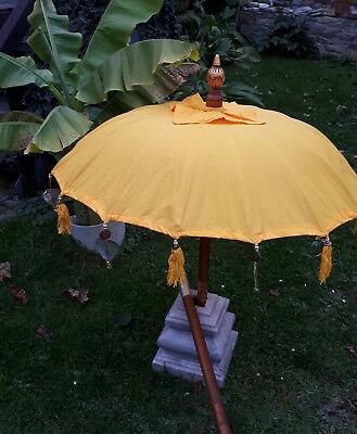 80cm Ø Bali Tempel Sonnen Balkon Schirm  Gelb REDUZIERT von 79 euro