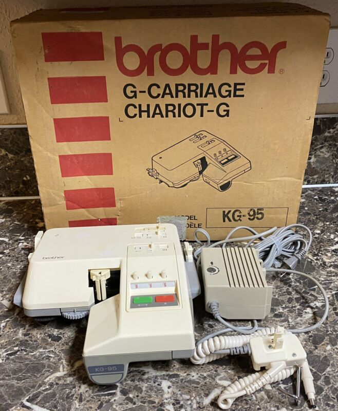 Brother KG-95 G Carriage Chariot-G in Box Complete Turns On Pre-owned