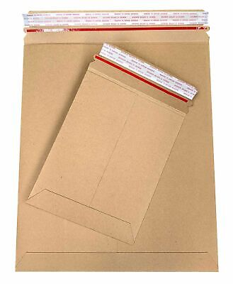 Stay Flat Kraft Cardboard Mailer W Tear Tab 28 Pt. Brown Choose Your Sizes