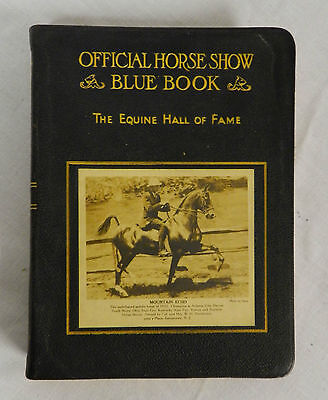 1932 Official Horse Show Blue Book The Equine Hall Of Fame