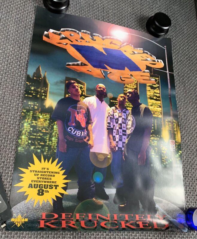 Vintage KRUCKED M-AGE - DEFINITELY KRUCKED Promo 1995 Poster 18x24 NJ Rap Random