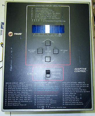 Trane Adaptive Chiller Control Panels X13650361 01   X13650362 01 Nice Used T O