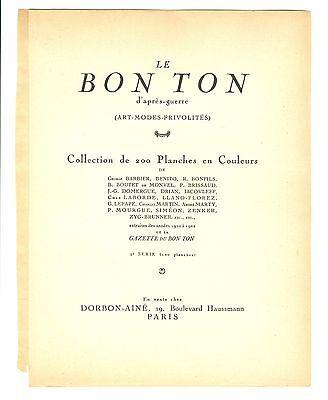Georges Lepape  Gazette Du Bon Ton  La Cueillette  1921