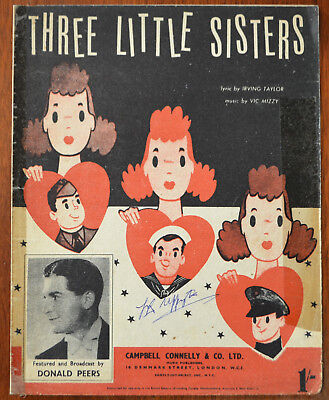 Three Little Sisters by Irving Taylor & Vic Mizzy – Pub.1942