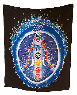 Batik Chakra Connection Hanging Cotton Handmade 106x90cm 6555 U