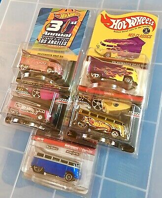Hot Wheels Volkswagen VW Drag Bus & T1 Lot Convention RLC Mail-In Exclusives!!!