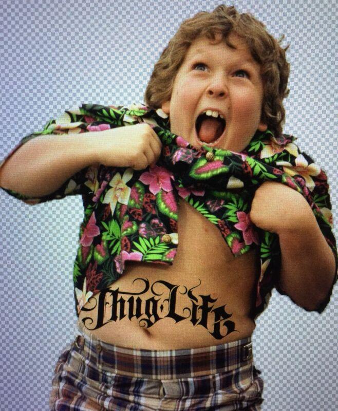 """Chunk"" Thug life Goonies Decal Sticker 6""X 7"" (Tupac, Truffle Shuffle, 80's)"