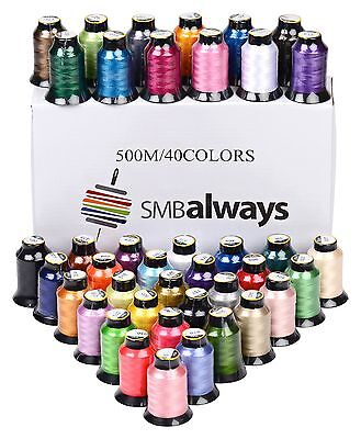 Embroidery Machine Thread Set Polyester 40 Spools New Colors 500m Each Brother