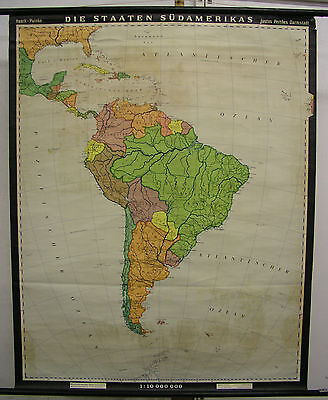 Schulwandkarte Wall Map America Countries South America South America 94x117 Map