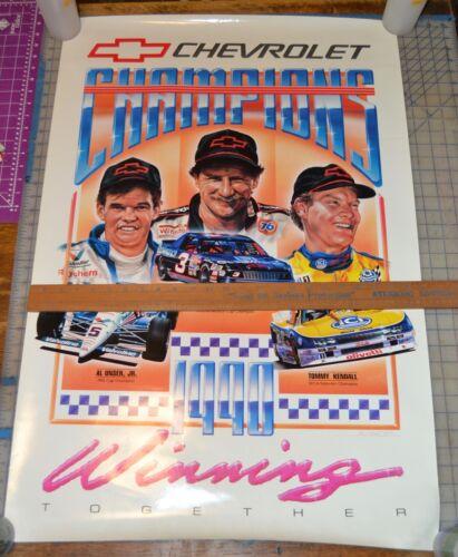 VTG Original 1990 Chevy Campions Winning Together Poster Nascar Dale Earnhardt