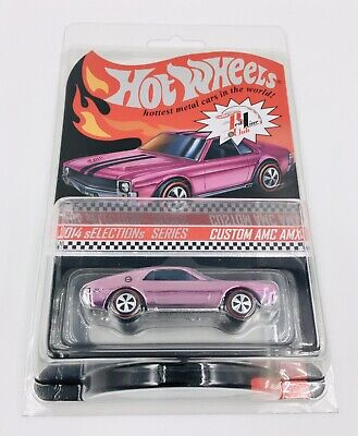 Hot Wheels 2014 Red Line Club RLC Selections Pink Custom AMC AMX #'d 2260/3126