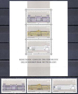 BUND Block 20 ** Demokratie  mit Einzelmarken,  einwandfrei postfrisch