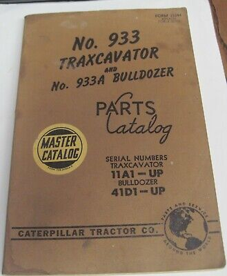 Cat Caterpillar 933 Traxcavator 933a Bulldozer Parts Catalog