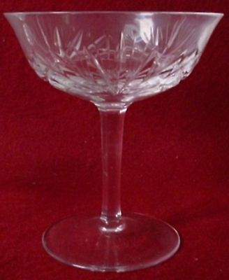 GORHAM crystal CHERRYWOOD pattern CHAMPAGNE tall SHERBET GLASS 4-5/8""