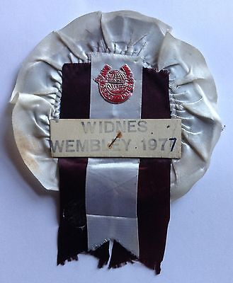 Widnes 1977 Good Luck Rosette Wembley Challenge Cup Final