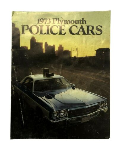 1973 Plymouth Police Car Sales Brochure