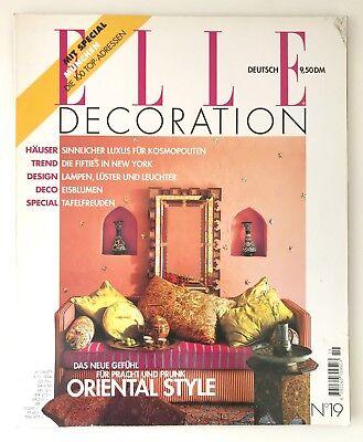 ELLE DECORATION N° 19 1994 1995 oriental style SAMMLER ZEITSCHRIFT 90s interior