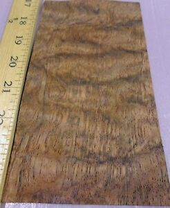 "... Waterfall Bubinga wood veneer 4"" x 6''-7"" with no backing (raw veneer"