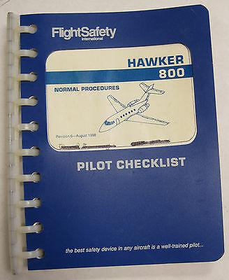 Original 800 Hawker Pilot Checklist