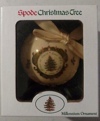 NIB Spode China Christmas Tree Millennium Ornament *NICE* Spode China Christmas Tree Ornaments