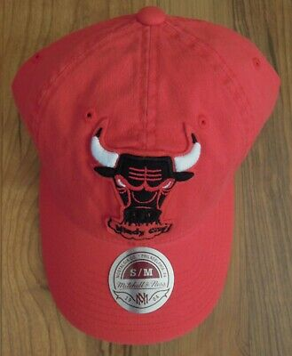 Vintage Mitchell & Ness Chicago Bulls Windy City Red Fitted Hat-SM/MED-NWT-NEW