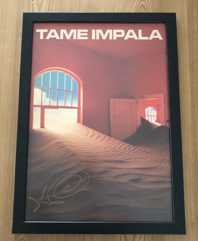 Kevin Parker Signed The Slow Rush Print Size A2- Custom Frame Included