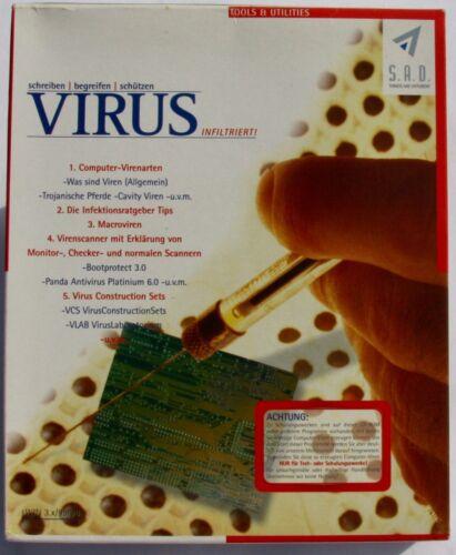 S.A.D. Antivirus Antiviren Programm | Vintage |Collector| Retro | Sehr selten