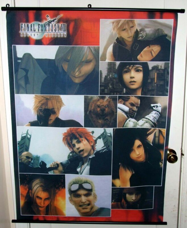 Final Fantasy VII Advent Children Wall Scroll Poster, New