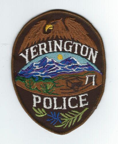 VINTAGE YERINGTON, NEVADA POLICE  (CHEESE CLOTH BACK) patch