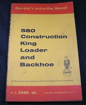 Case 580 Construction King 580ck Loader Backhoe Operators Operation Manual