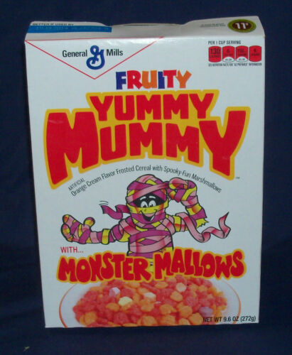 YUMMY MUMMY Cereal Box General Mills 2013 Halloween MONSTER Target Exclusive