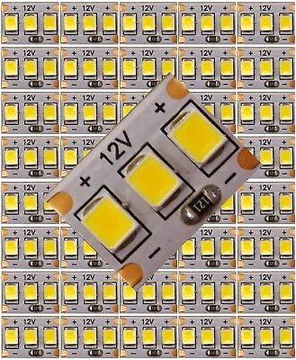 40x Mini-Platine LED Warm-Weiß 3 LED´s auf 9x12,5mm z.B. Hausbeleuchtung C3226