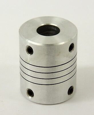 Flexible Parallel Cnc Coupling D25-l30-6.35x 14 Inch To 12mm