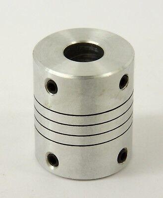 Flexible Parallel Cnc Coupling D25-l30-6.35x 14 Inch To 12mm